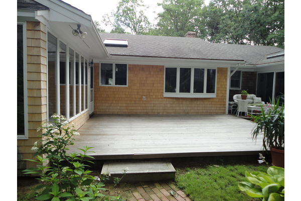 New siding and deck