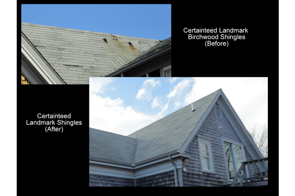 Certainteed Landmark birchwood shingles roof repair