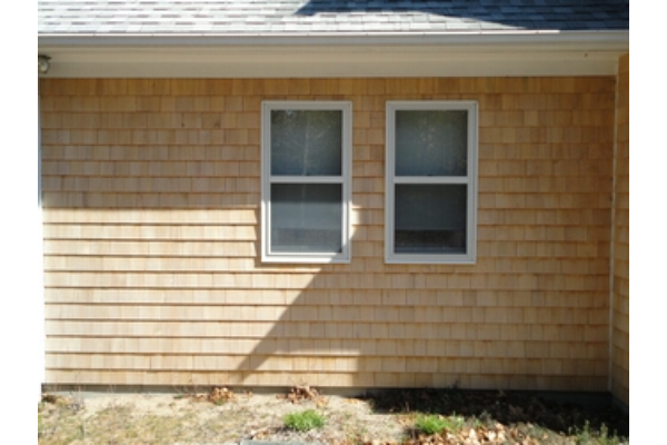 New siding, windows, corner board, rake board & exterior trim