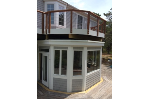 Exterior trim, siding and deck