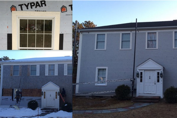 front and back siding, exterior trim & windows